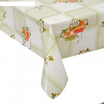 Клеенка столовая на тканевой основе 1,28х25 м медок цвет оливковый