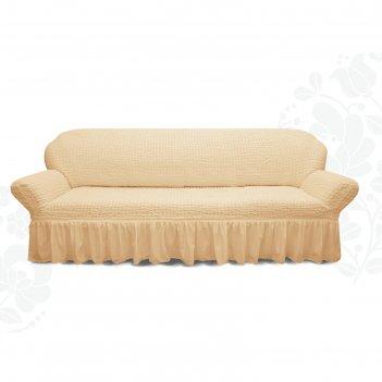 Чехол для мягкой мебели диван 3-х местный 6084, трикотаж, 100% п/э, упаков