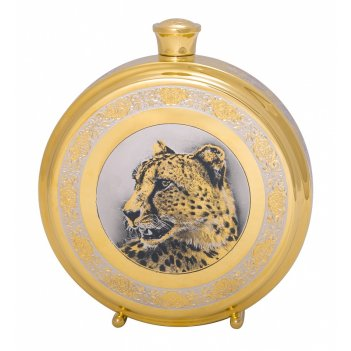 Фляга большая  леопард  златоуст
