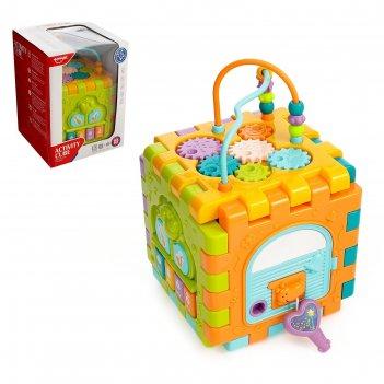 Развивающая игрушка логический куб, световые и звуковые эффекты