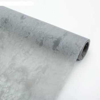 Фетр ламинированный мрамор, серый, 0,6 х 5 м