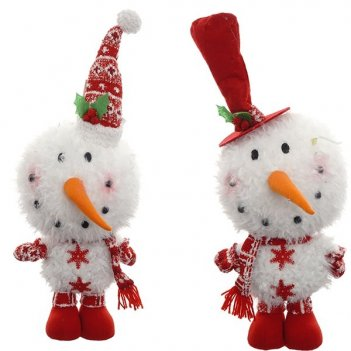 Игрушка мягконабивная снеговик, 20х30х56см, 2в