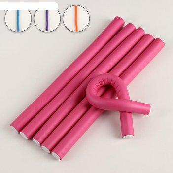 Бигуди «бумеранг», d = 1,7 см, 23,5 см, 6 шт, цвет микс