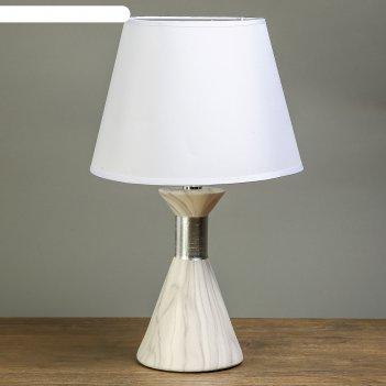 Лампа настольная мрамор с серебристой вставкой 1х40w е14 40х24х24 см