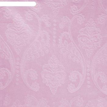 Плед этель корал 2 сп дамаск 180х200 см розовый,100% п/э, корал-флис 280 г