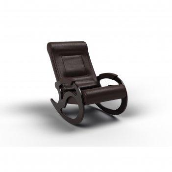 Кресло-качалка «вилла», 1040 x 640 x 900 мм, экокожа, цвет венге