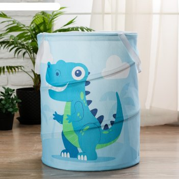 Корзинка для игрушек динозавр 34х34х45 см