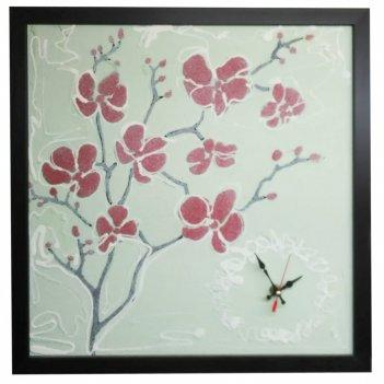Настенные часы династия 03-302 цветение