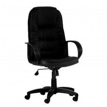 Кресло руководителя омега, экокожа, черное мк-06