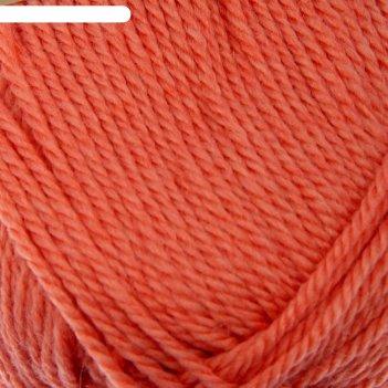 Пряжа мериносовая 50% мериносовая шерсть, 50% акрил 200м/100гр (396-настур
