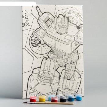 Картина по номерам «оптимус», transformers, 20 х 30 см