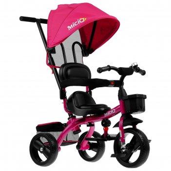 Велосипед трехколесный micio gioia, колеса eva 10/8, цвет сливовый