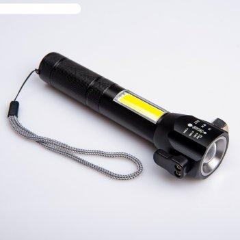 Фонарь профессиональный аккумуляторный, т6, zoom, 7w, 200 лм, 4 режима, от