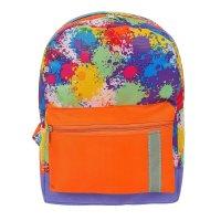 Рюкзак детский клякса, 1 отдел, наружный карман, сине-оранжевый