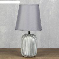 Лампа настольная антураж 1x40вт е14 серый 17х17х33 см.