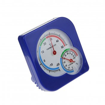 Термометр уличный, гигрометр, 7*7 см, синий