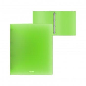 Папка на 4 кольцах а4 erichkrause neon 35мм зеленая 47327
