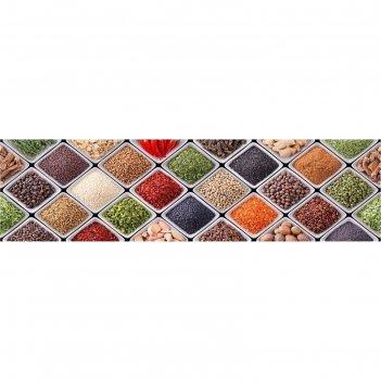Кухонный фартук специи мозаика 2440х600х3 мм