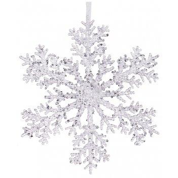 Изделие декоративное снежинка диаметр=20 см (мал=24шт./кор=144шт.)