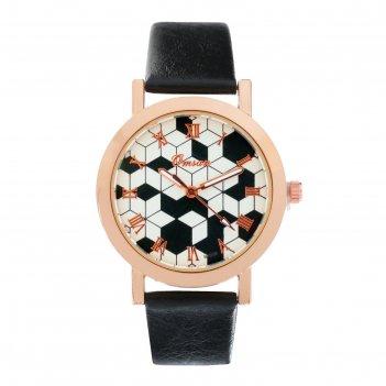 Часы наручные женские omsan-3 d=3.3 см, черные