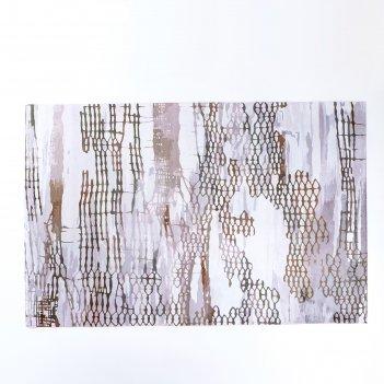 Коврик для дома 100x160 см нега, цвет коричневый
