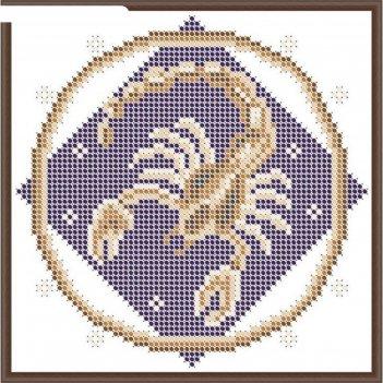 Основа для вышивания с нанесённым рисунком «скорпион»