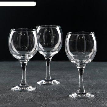 Набор фужеров для вина 290 мл бистро, 3 шт