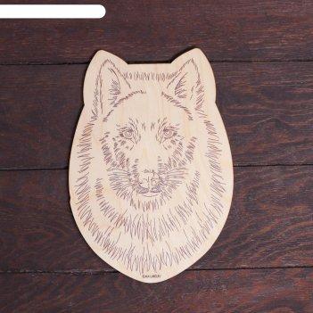 Заготовки для творчества. доска для выжигания волк, т1008