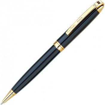 Шариковая ручка pierre cardin. корпус-латунь+никель, детали дизайна-сталь