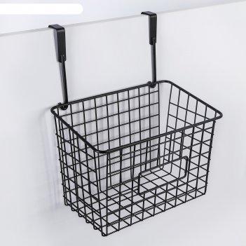 Корзина подвесная 23х15,5х30,5 см, цвет черный