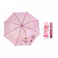 Зонт механический, r=55см, цвет розовый