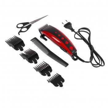 Машинка для стрижки волос irit ir-3308, 4 уровня стрижки, 10 вт, электриче