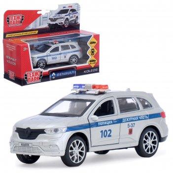 Машина металлическая «renault koleos полиция» 12см, открываются двери, ине