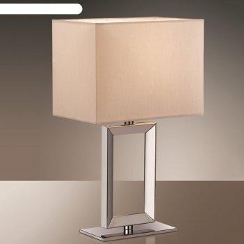 Настольная лампа atolo 40вт e14 хром