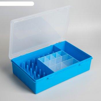 Органайзер для хранения швейных принадлежностей , цвет голубой