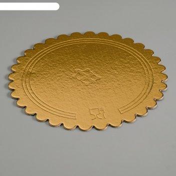 Подложка усиленная, волна, 22 см, золото-черный, 3,2 мм