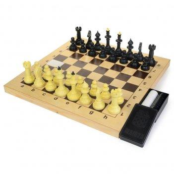 Шахматы + шашки айвенго (россия, дерево, 43х22х6 см)