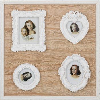 Фотоколлаж на 4 фото коллекция home 36*36*2,5 см...