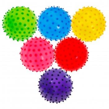 Мячик массажный цветной матовый пластизоль d=10 см 22гр, цвета микс
