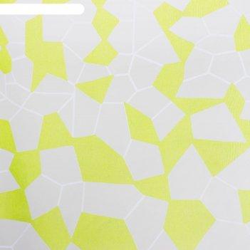 Тюль этель абстракция (цвет зелёный) без утяжелителя, ширина 250 см, высот