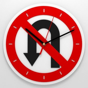 Настенные часы разворот запрещен
