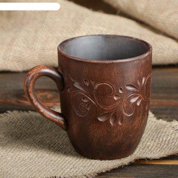 Кружка катан чай декор красная глина