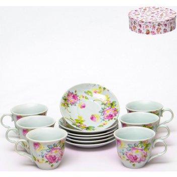 Набор чайный флора «аромат» 220 мл, 12 предметов
