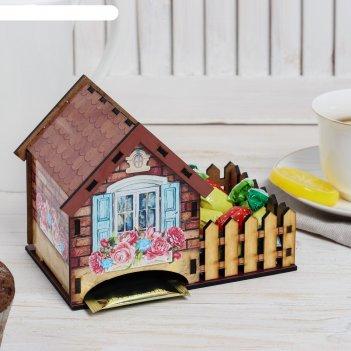 Чайный домик дом, 10,5х12 см