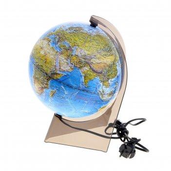 Глобус ландшафтный диаметр 210 мм, на треугольной подставке, с подсветкой