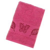 Полотенце махровое fiesta cotonn butterfly 70*140см вишневый 500гр/м, хлоп