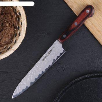Нож кухонный samura kaiju универсальный, лезвие 150 мм, aus-8, дерево