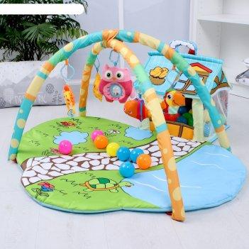 Развивающий коврик «домик для игрушек», с дугами + шары