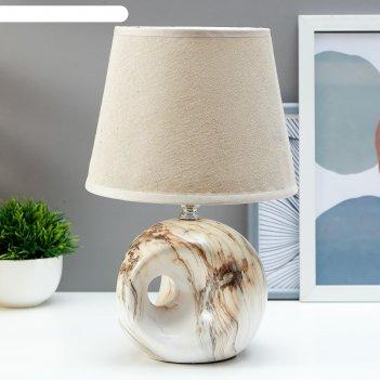 Лампа настольная аделия 1x40вт e14 серый 14,5х14,5x20,5 см.