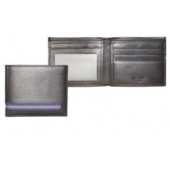 Портмоне caseti, кожа тисненая черная, 11,0 х 9,2см